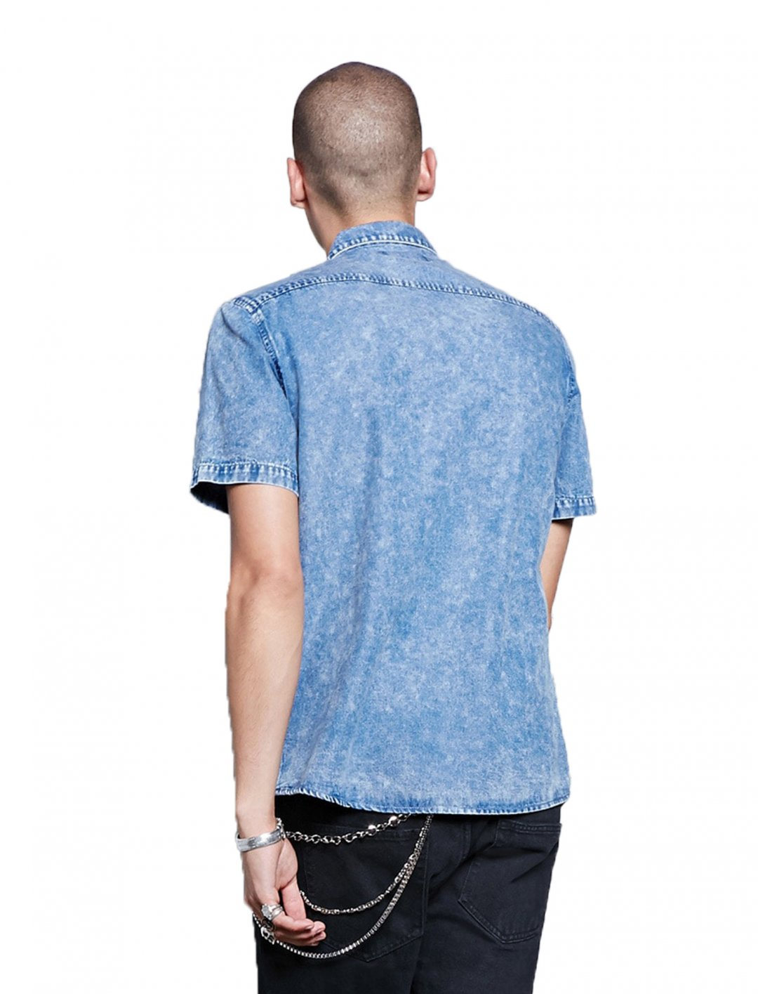 """Forever21 Washed Denim Shirt {""""id"""":5,""""product_section_id"""":1,""""name"""":""""Clothing"""",""""order"""":5} Forever21"""