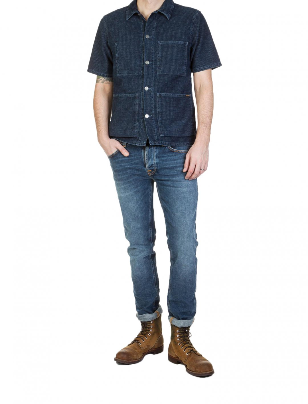 """Nudie Jeans Short Sleeve Shirt {""""id"""":5,""""product_section_id"""":1,""""name"""":""""Clothing"""",""""order"""":5} Nudie Jeans"""