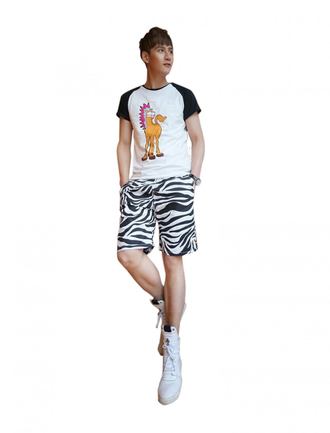 """Panda Superstore Zebra Shorts {""""id"""":5,""""product_section_id"""":1,""""name"""":""""Clothing"""",""""order"""":5} Panda Superstore"""