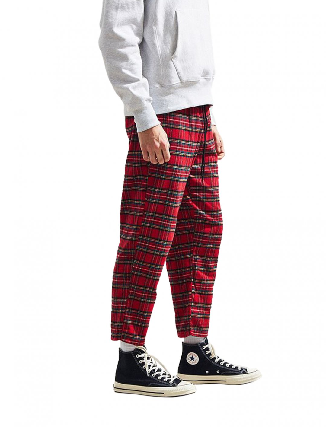 """UO Red Tartan Trousers {""""id"""":5,""""product_section_id"""":1,""""name"""":""""Clothing"""",""""order"""":5} Urban Outfitters"""