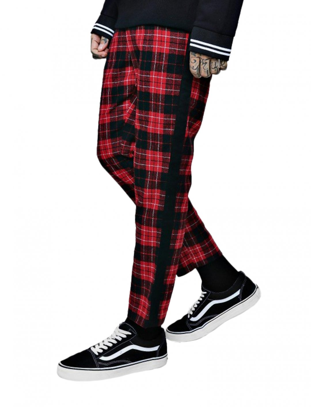 """BoohooMAN Tartan Trousers {""""id"""":5,""""product_section_id"""":1,""""name"""":""""Clothing"""",""""order"""":5} BoohooMAN"""