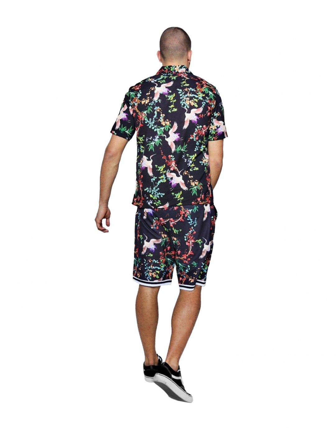 "BoohooMAN Bird Print Shirt {""id"":5,""product_section_id"":1,""name"":""Clothing"",""order"":5} boohooMAN"