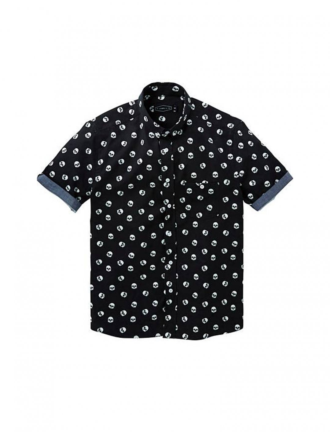 """Label J Skull Print Shirt {""""id"""":5,""""product_section_id"""":1,""""name"""":""""Clothing"""",""""order"""":5} Label J"""