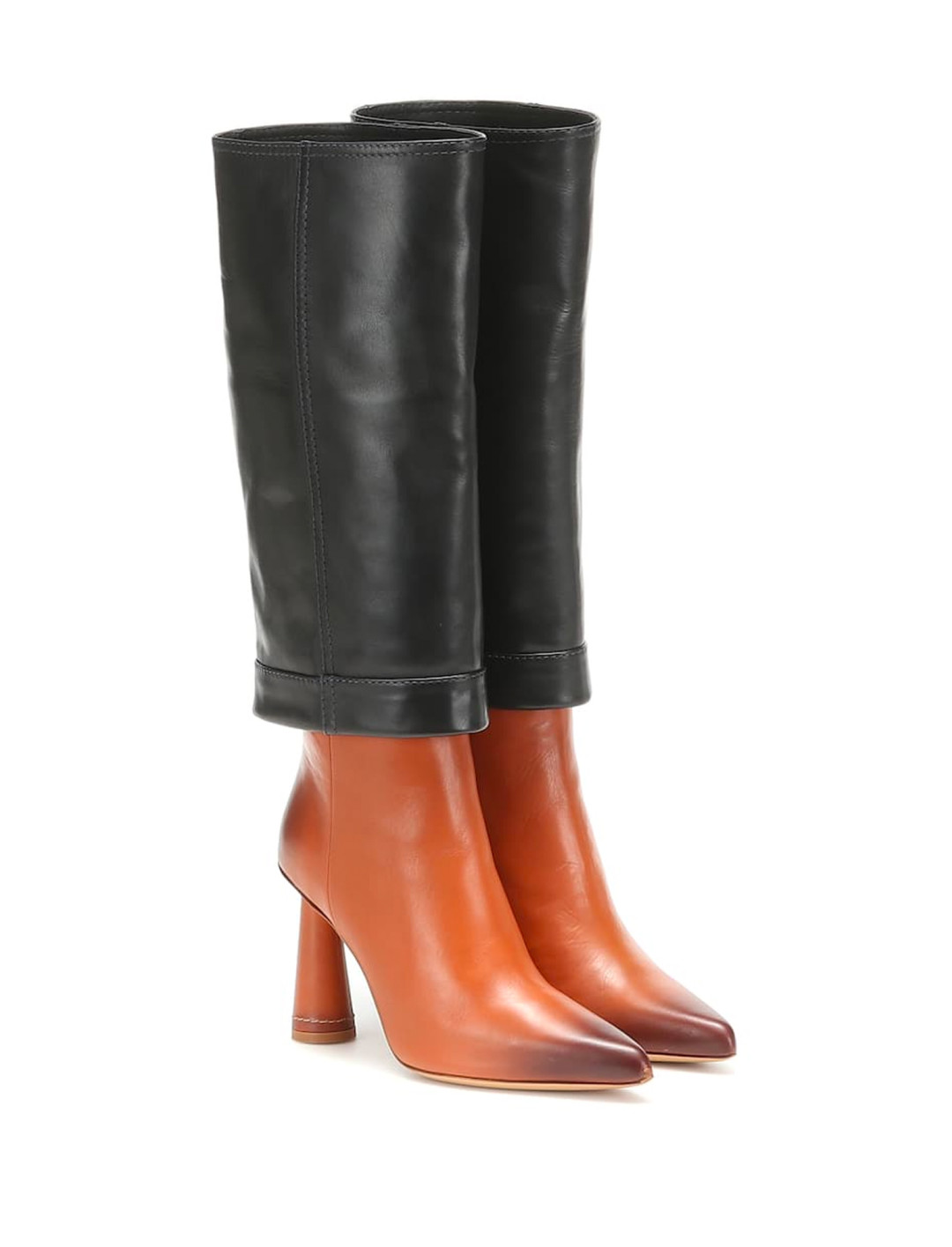 """Black Leather Boots {""""id"""":12,""""product_section_id"""":1,""""name"""":""""Shoes"""",""""order"""":12} Jacquemus"""