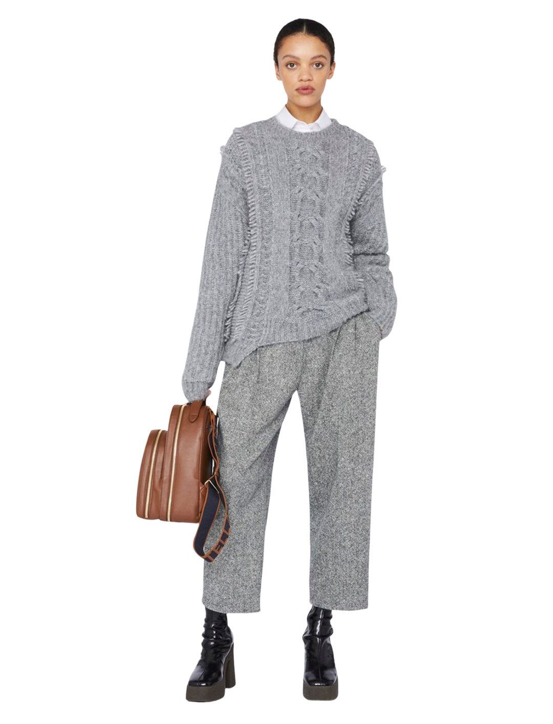 """Grey Cable Knit {""""id"""":5,""""product_section_id"""":1,""""name"""":""""Clothing"""",""""order"""":5} Stella McCartney"""