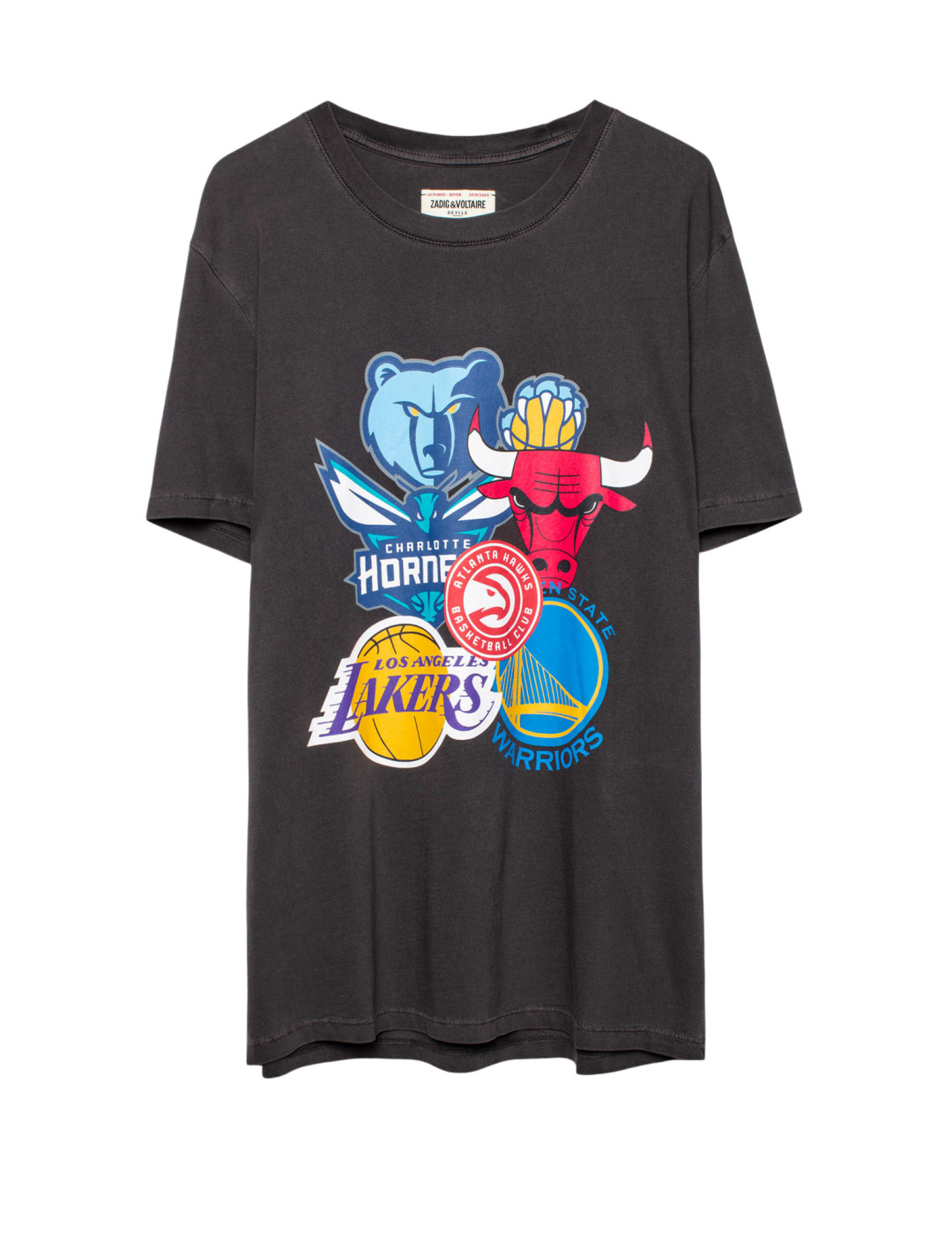 """D-Ted Show T-shirt {""""id"""":5,""""product_section_id"""":1,""""name"""":""""Clothing"""",""""order"""":5} Zadig & Voltaire x NBA"""