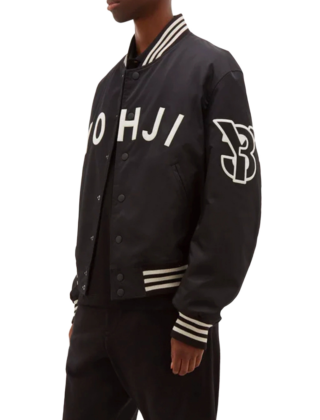 """Yohji Letters Bomber Jacket {""""id"""":5,""""product_section_id"""":1,""""name"""":""""Clothing"""",""""order"""":5} Y-3"""