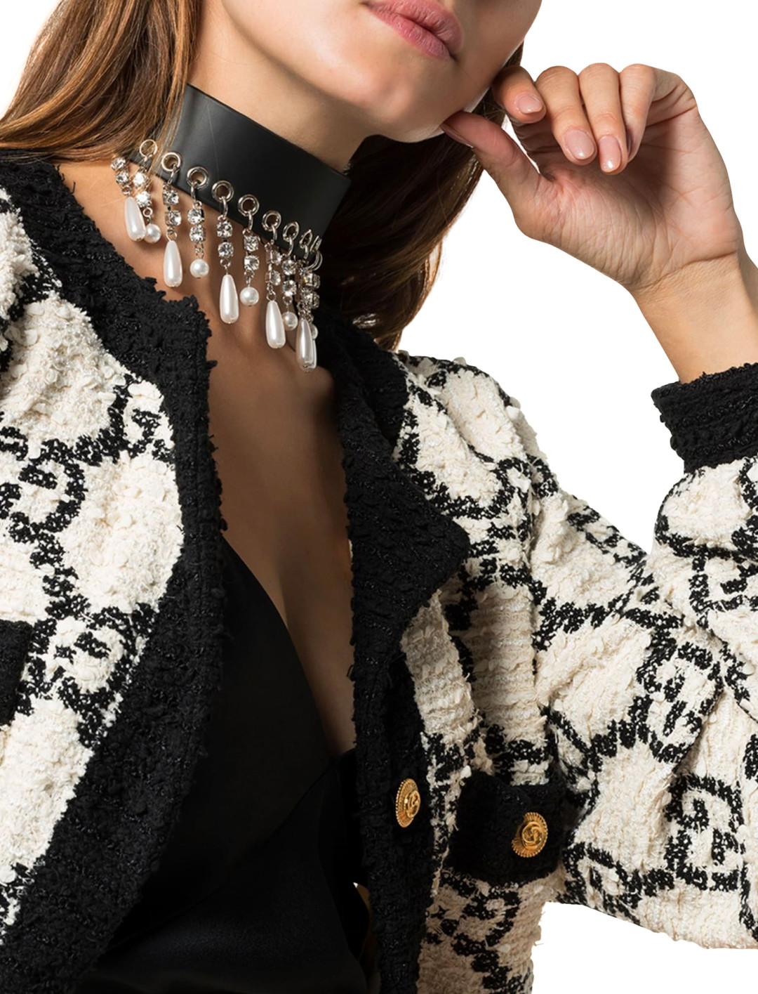 Black Pearl Necklace Accessories Alessandra Rich