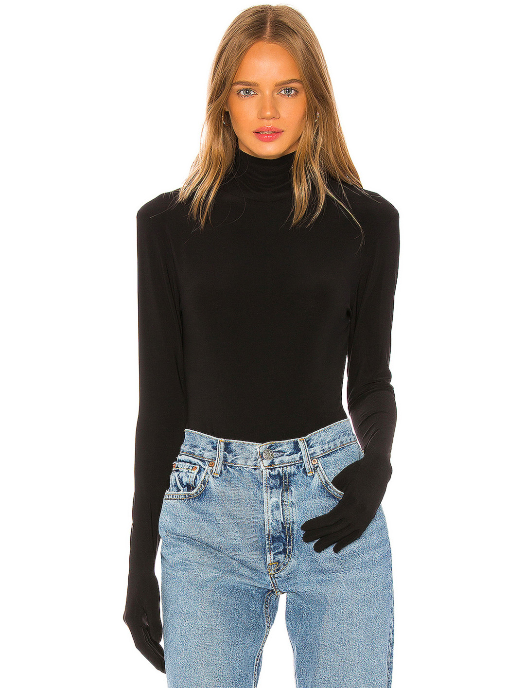 Black Bodysuit With Gloves Clothing Norma Kamali