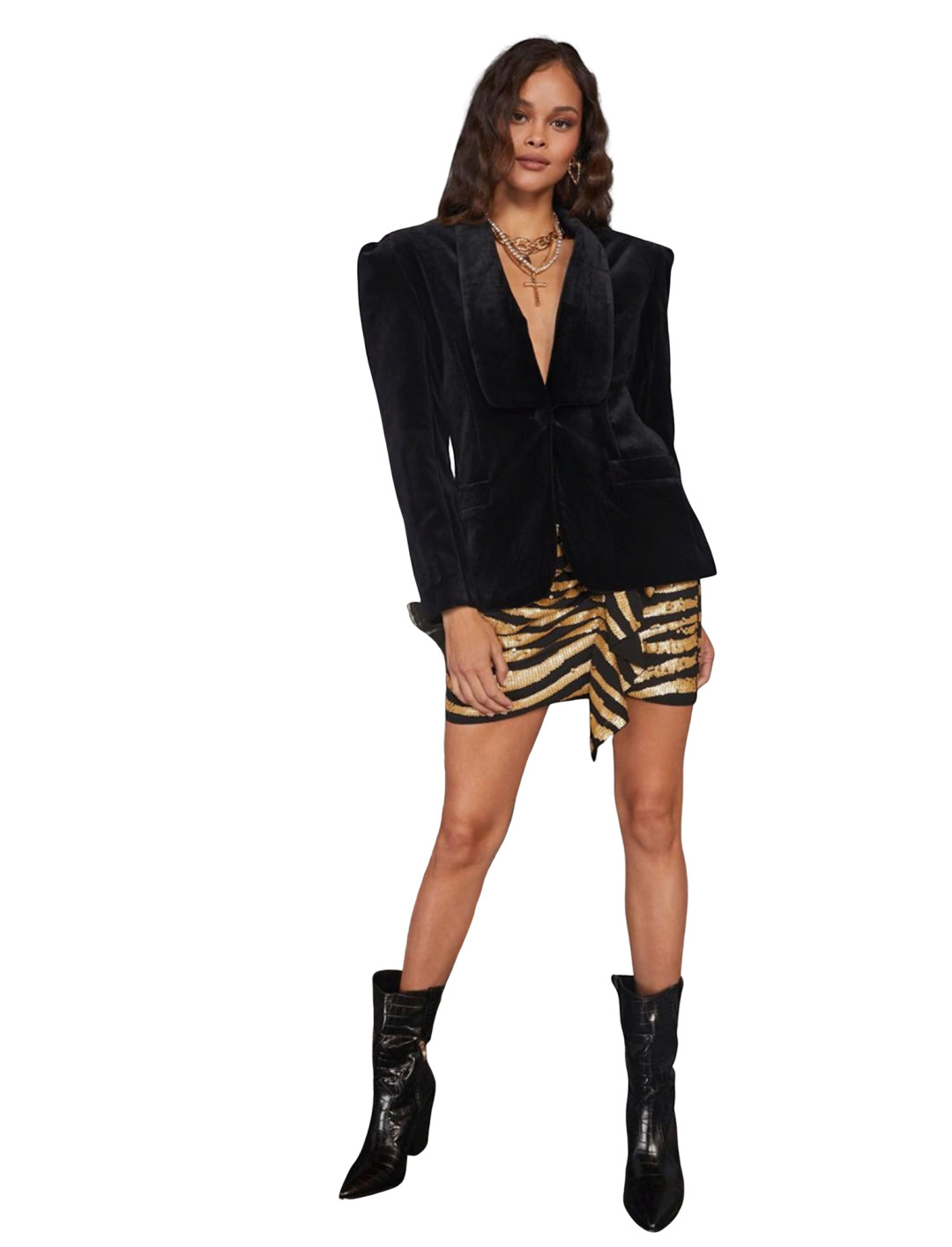 """Velvet Blazer {""""id"""":5,""""product_section_id"""":1,""""name"""":""""Clothing"""",""""order"""":5} Nasty Gal x Cara Delevingne"""