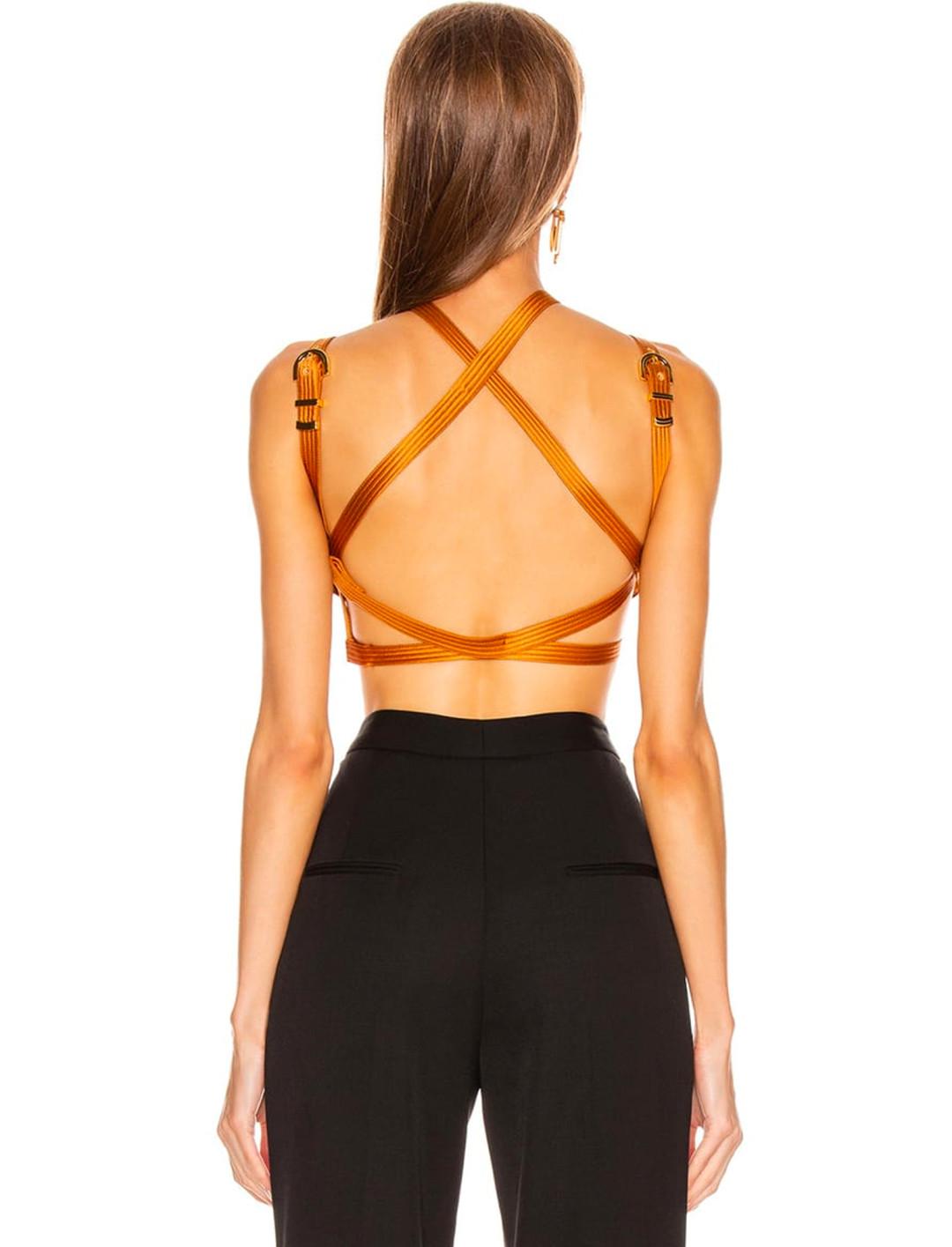 Brown Bondage Top Clothing Versace