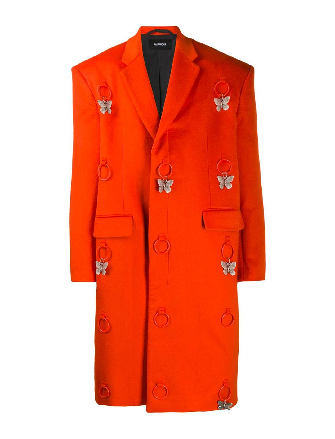 Orange Coat Clothing Raf Simons