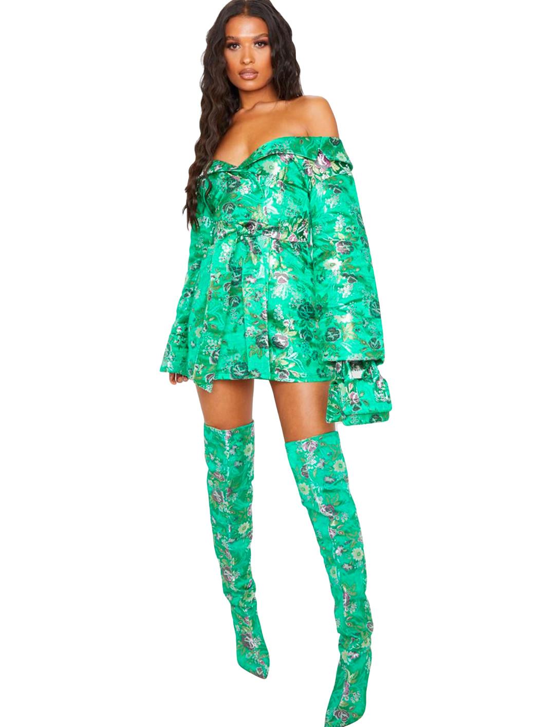 Bardot Oriental Dress  Pretty Little Thing x Little Mix