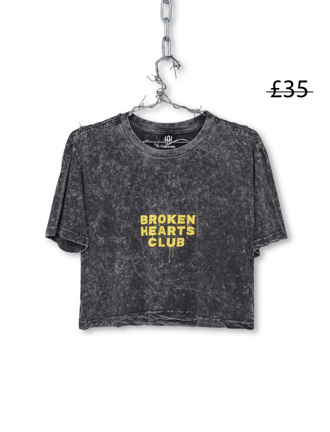 Broken Hearts Club Cropped T-shirt  Hard as Hell