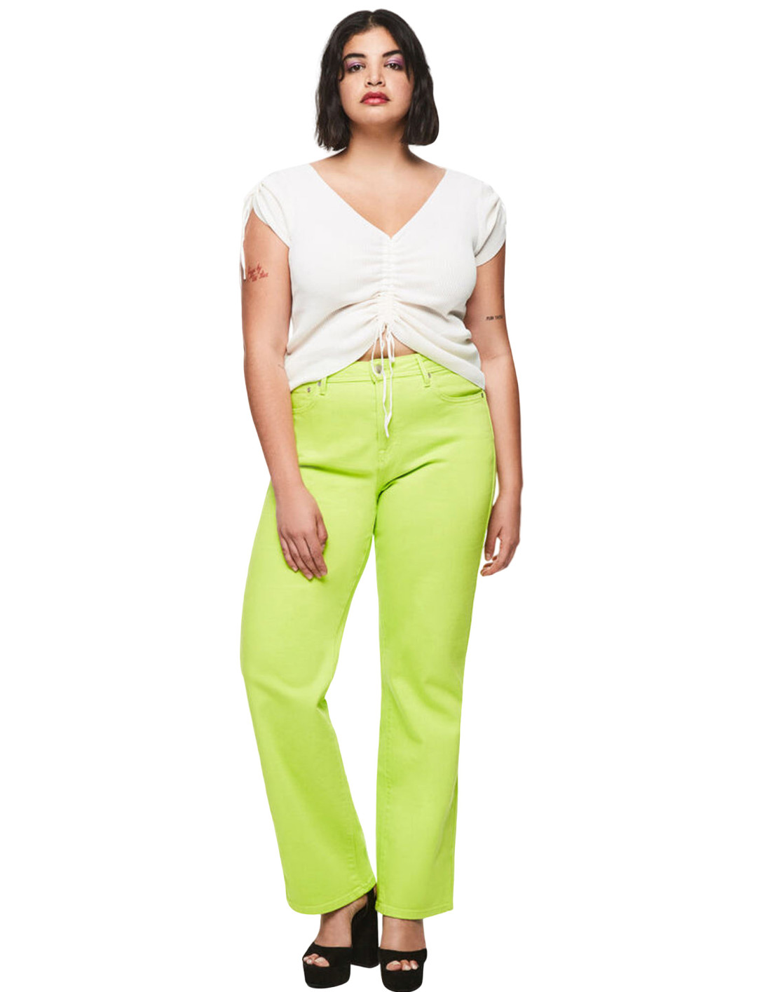 High-Rise Coloured Jeans