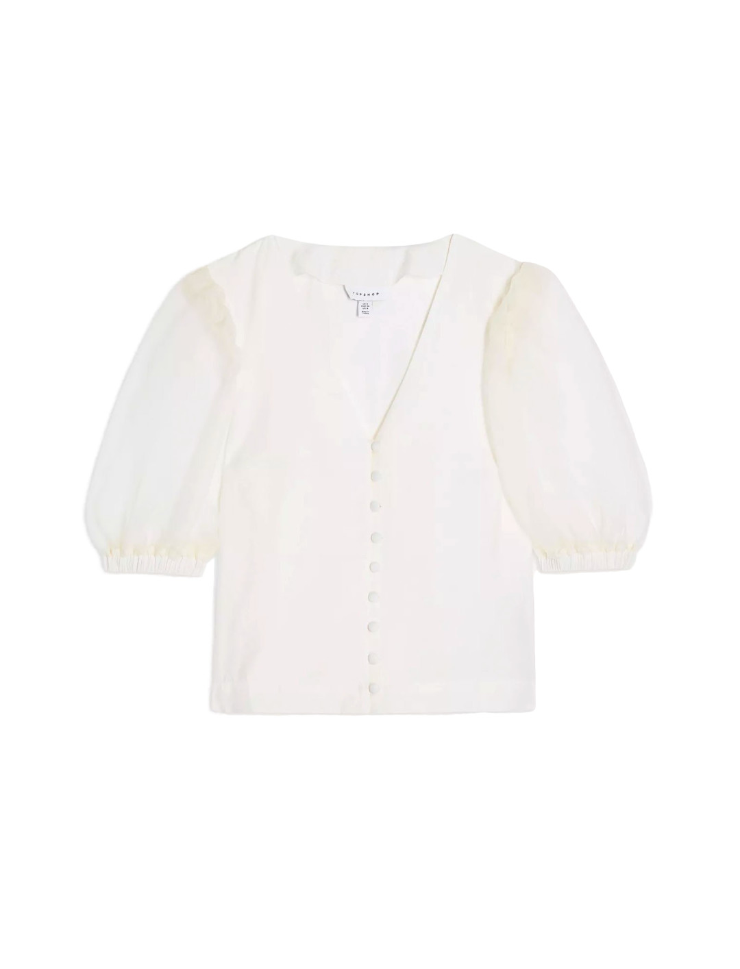 Organza Button Through Blouse