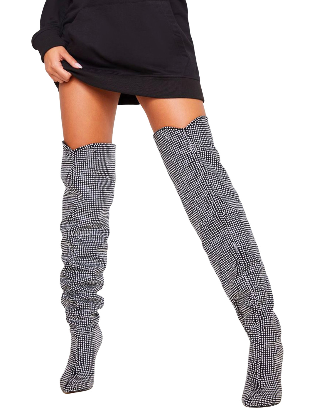 Slouch Thigh High Boot
