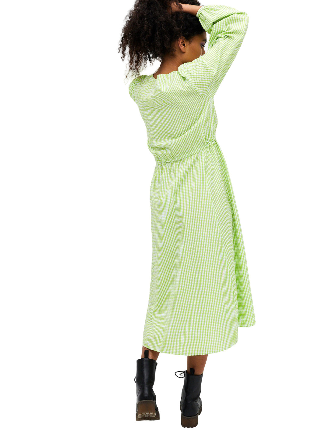 Mallan Green Smock Dress