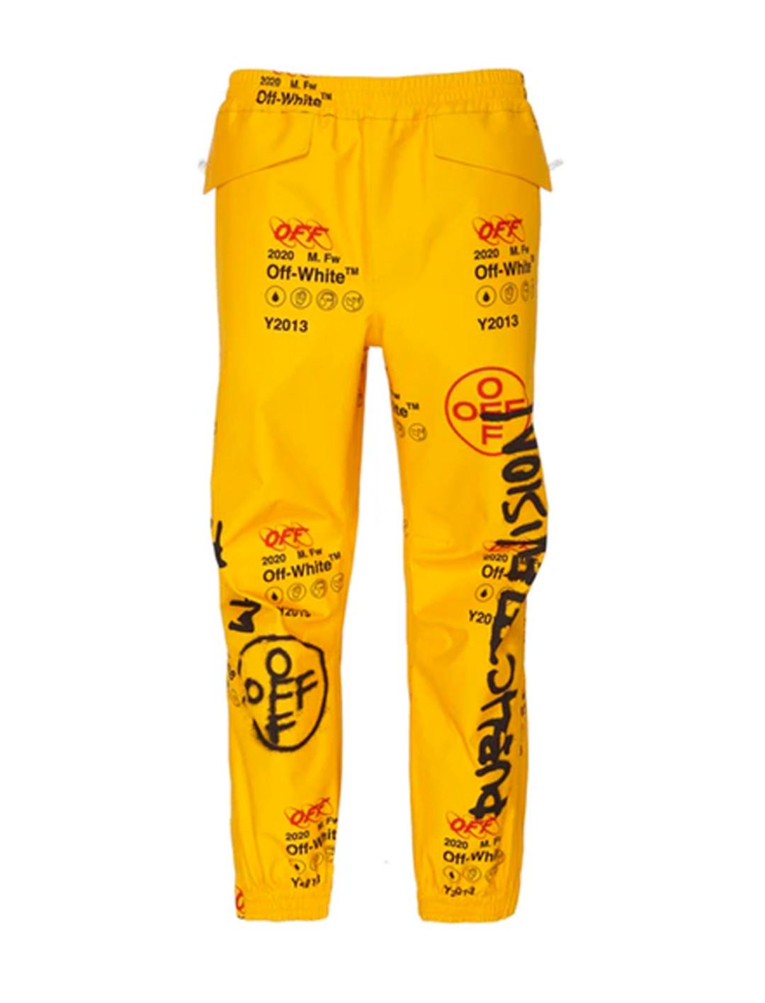 Yellow Graffiti Pants