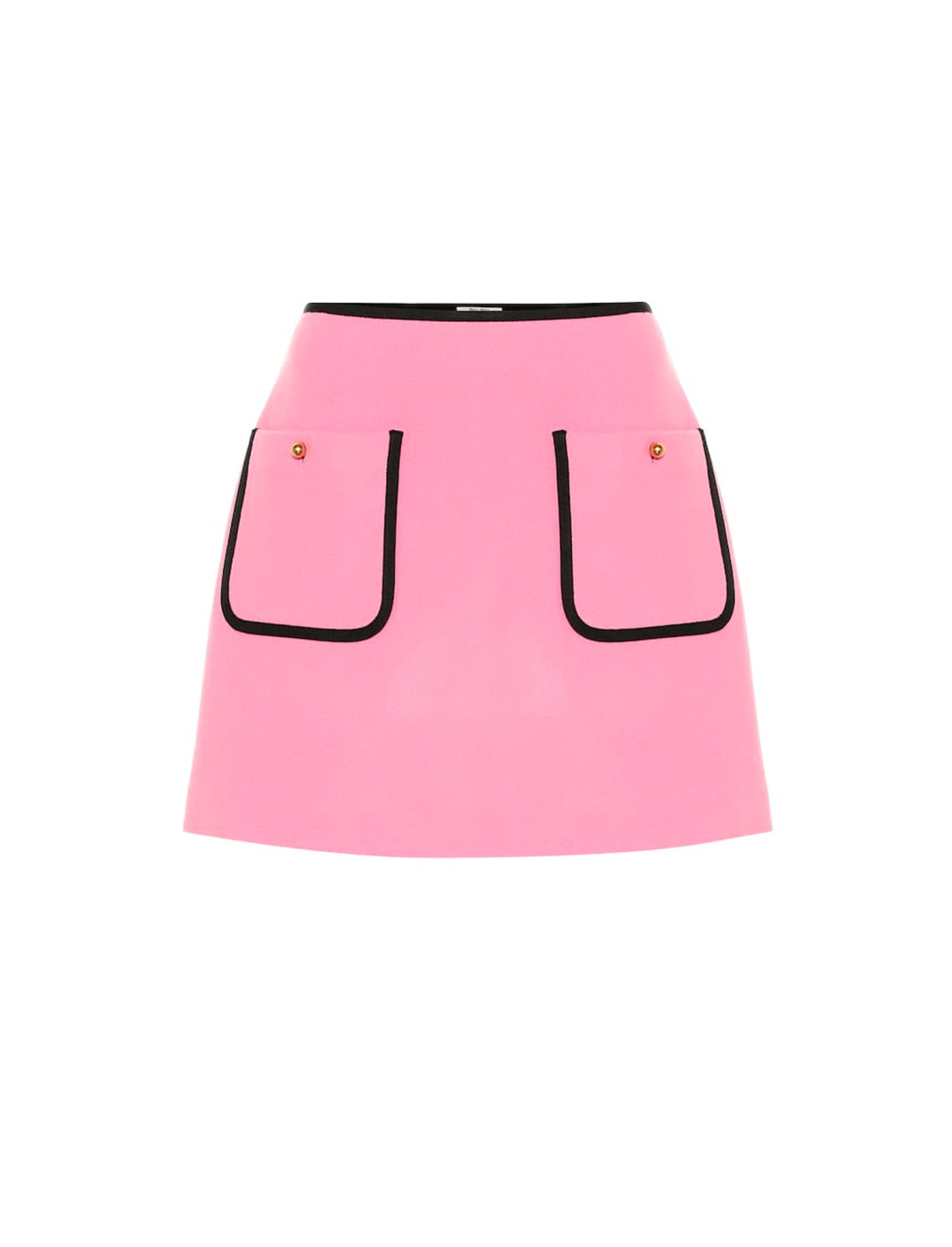 Pink Wool Mini Skirt