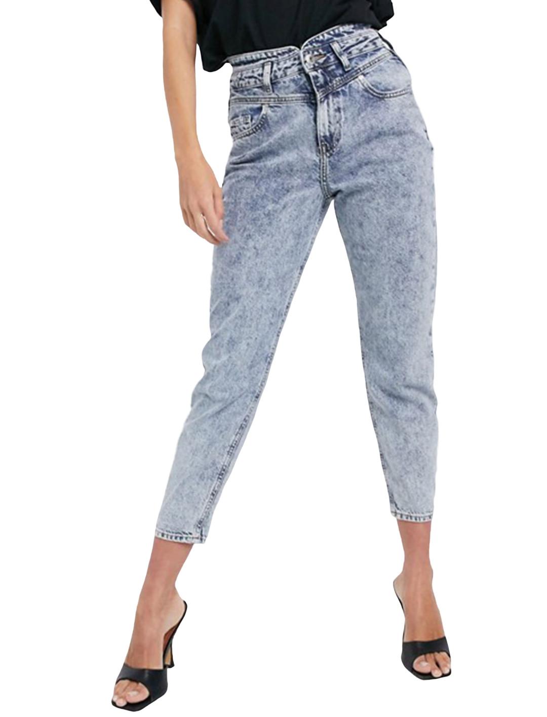 Mom Jeans Acid Wash Blue
