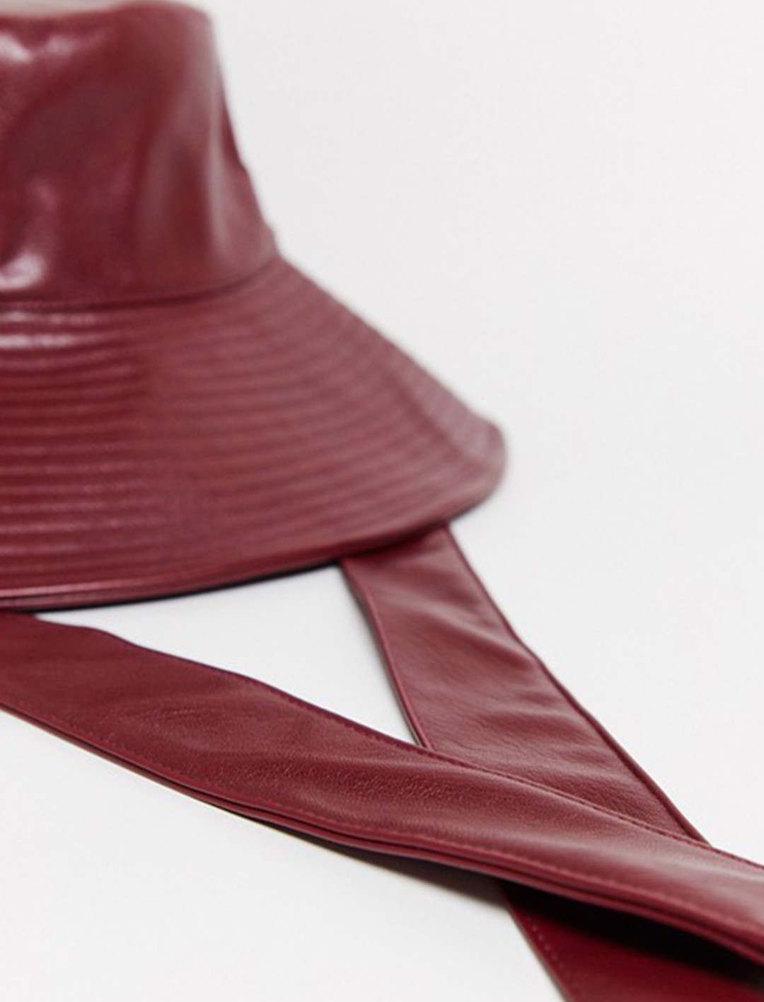 Faux Leather Rain Hat