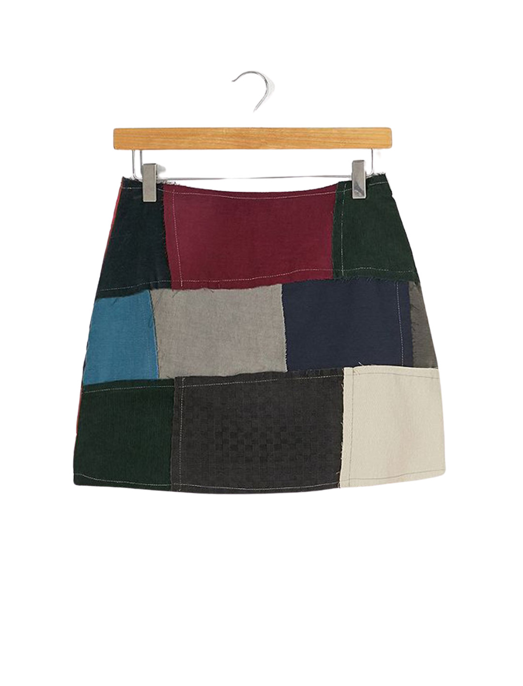Patchwork Corduroy Skirt