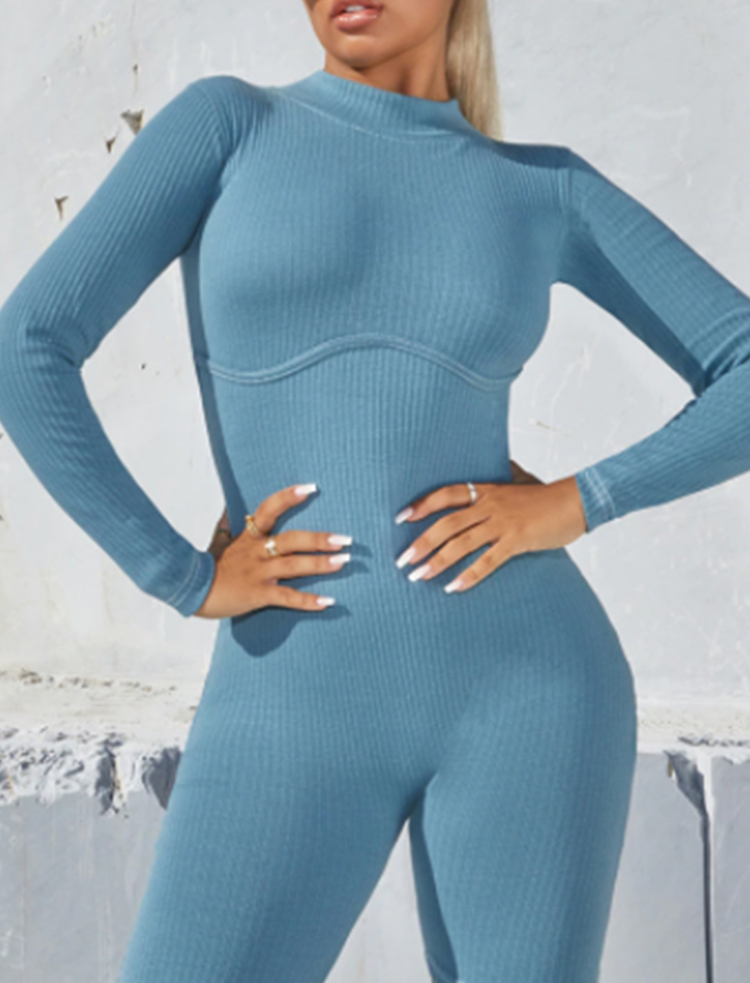 High Neck Unitard