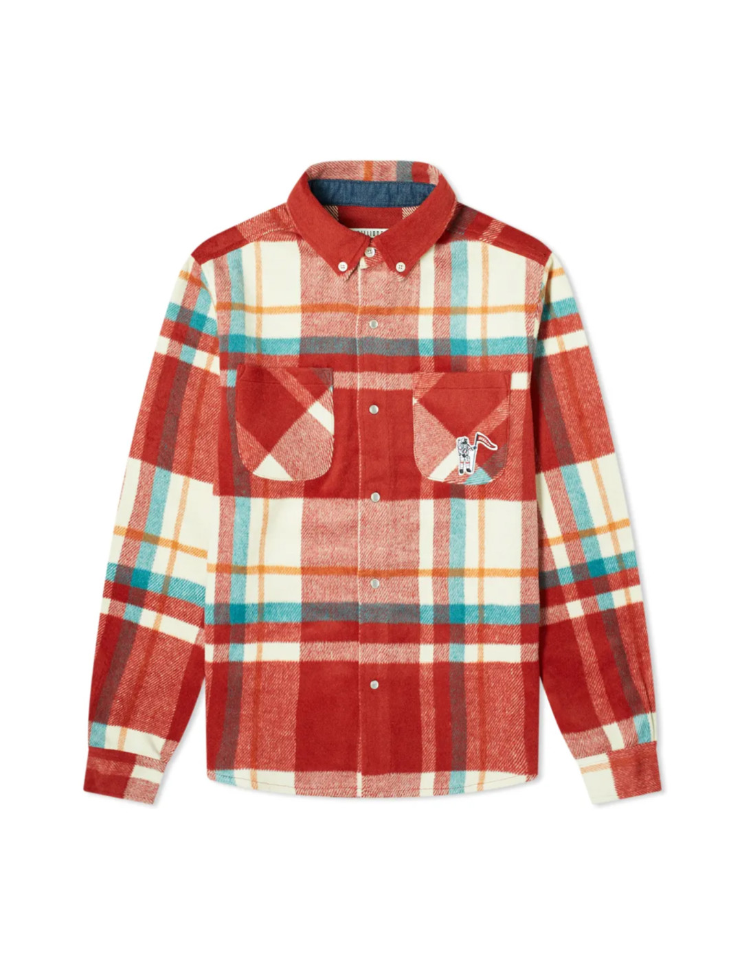 Check Overshirt In Red