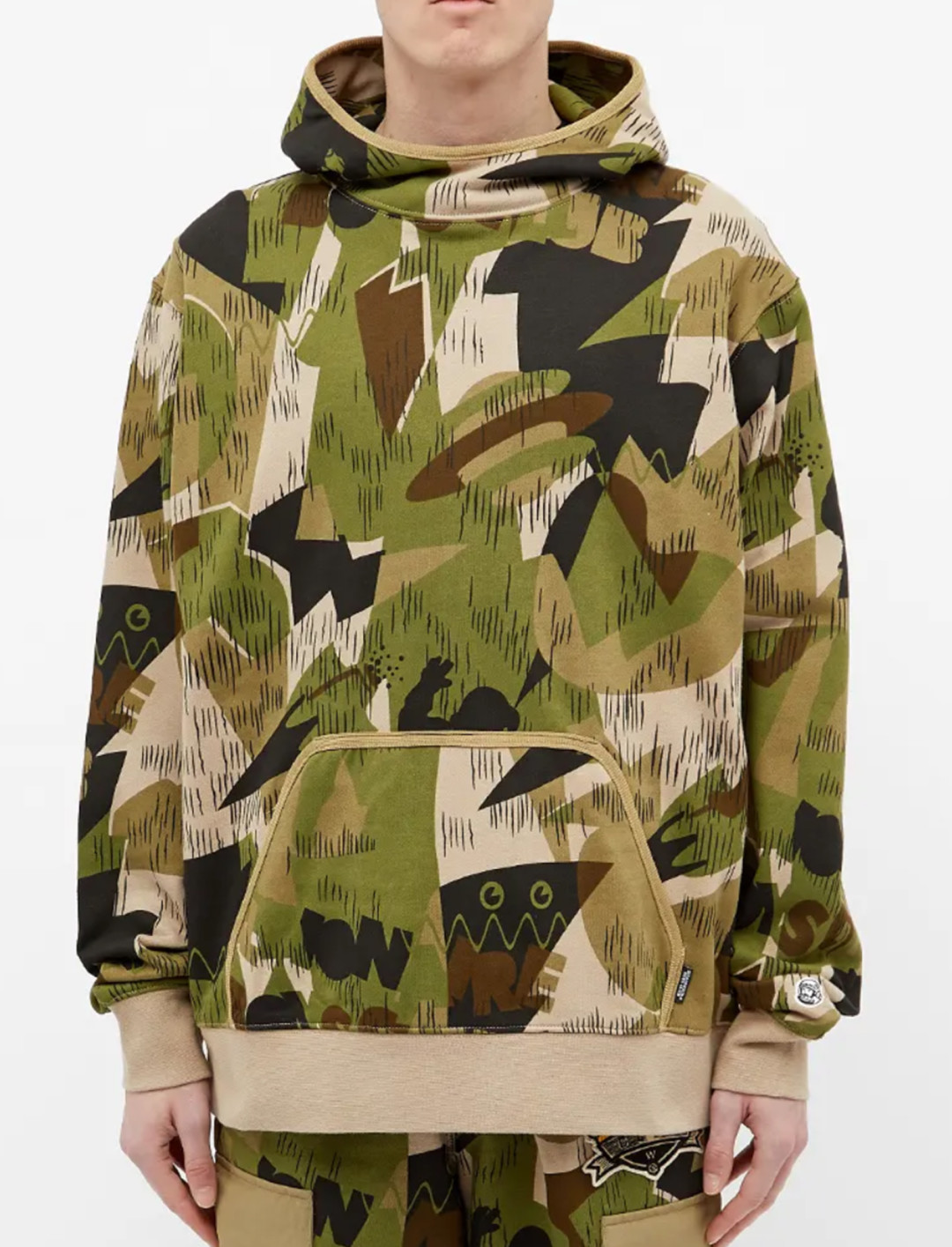 All Over Print Camo Popover Hoody