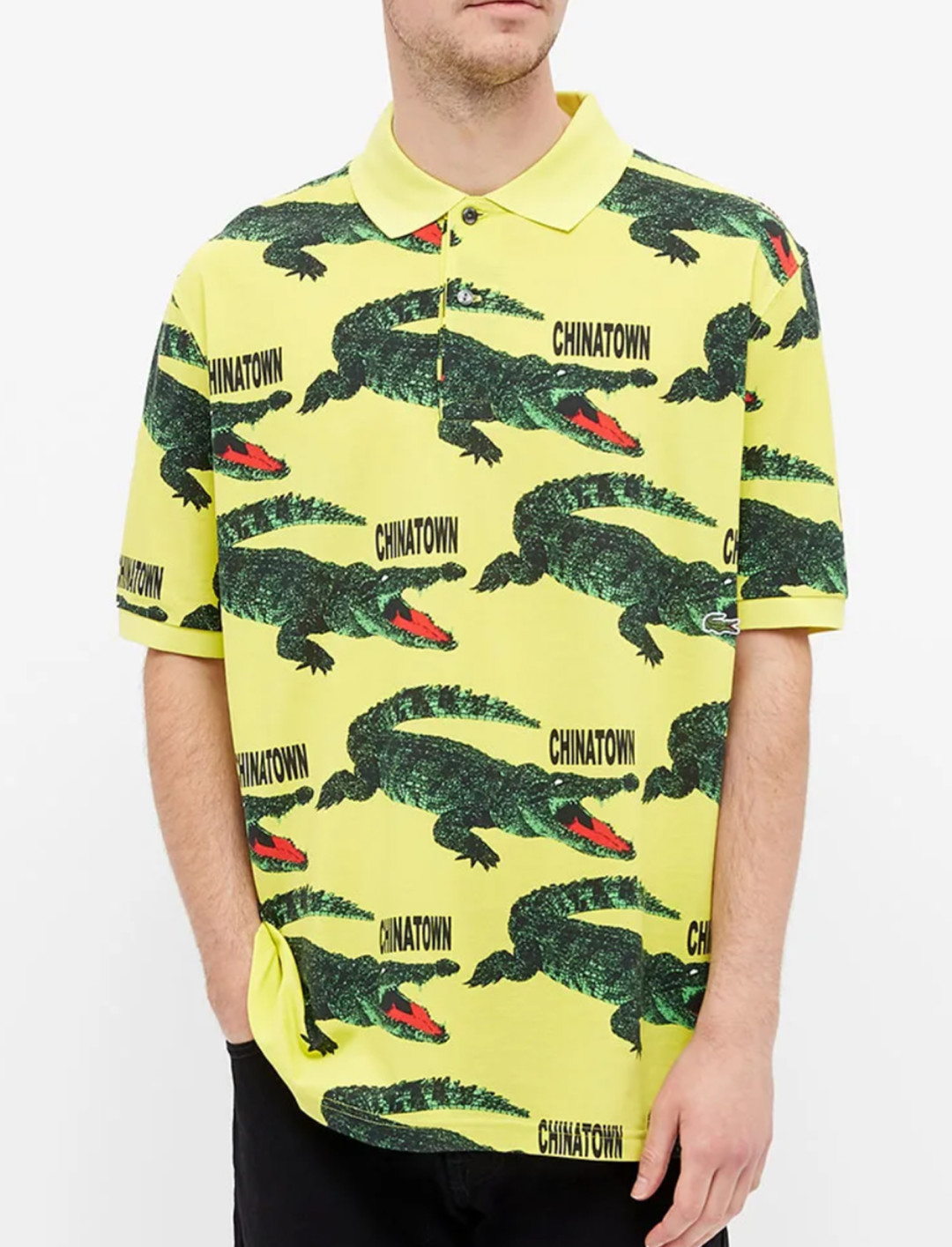 Printed Polo In Lemon