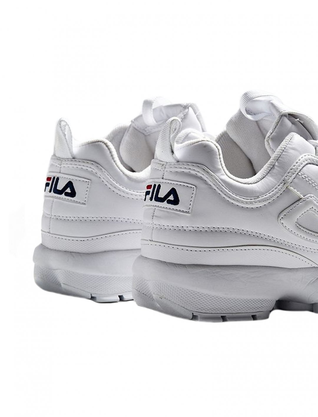 "Disruptor Core White Trainers {""id"":12,""product_section_id"":1,""name"":""Shoes"",""order"":12} FILA"