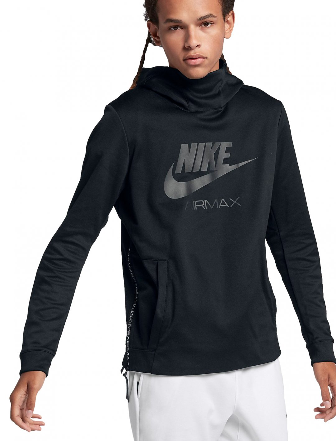"""Avelino's Black Hoodie {""""id"""":5,""""product_section_id"""":1,""""name"""":""""Clothing"""",""""order"""":5} Nike"""