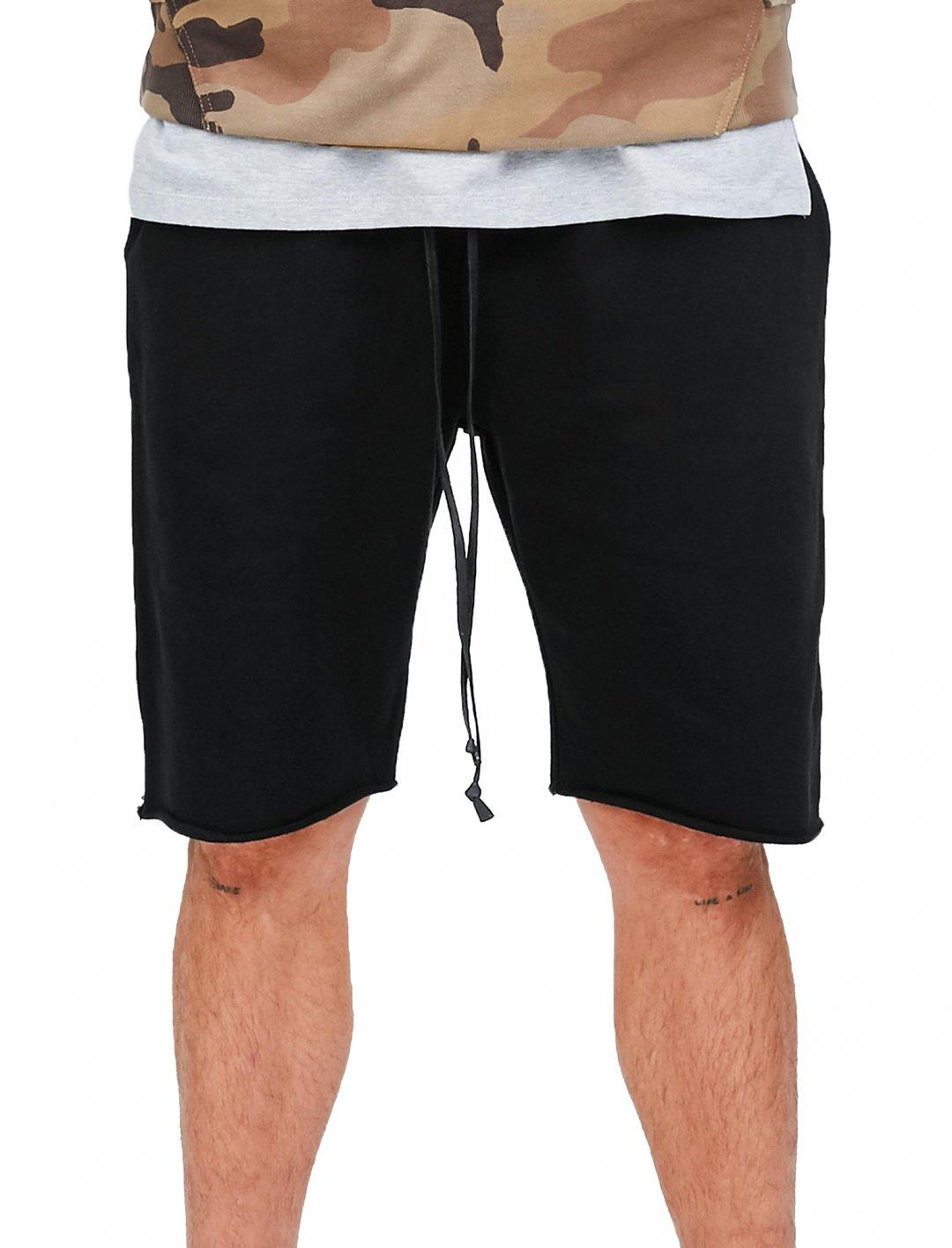 """Avelino's Black Jersey Shorts {""""id"""":5,""""product_section_id"""":1,""""name"""":""""Clothing"""",""""order"""":5} Mennace"""