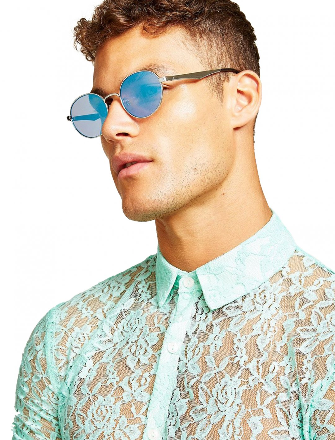 """Topman Round Sunglasses {""""id"""":16,""""product_section_id"""":1,""""name"""":""""Accessories"""",""""order"""":15} Topman"""