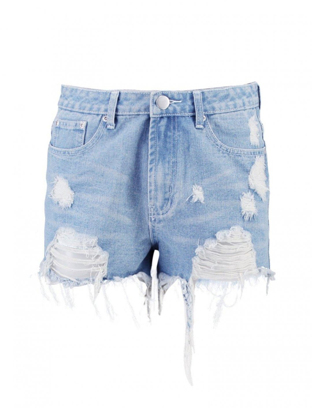 "Boohoo Distressed Denim Shorts {""id"":5,""product_section_id"":1,""name"":""Clothing"",""order"":5} Boohoo"