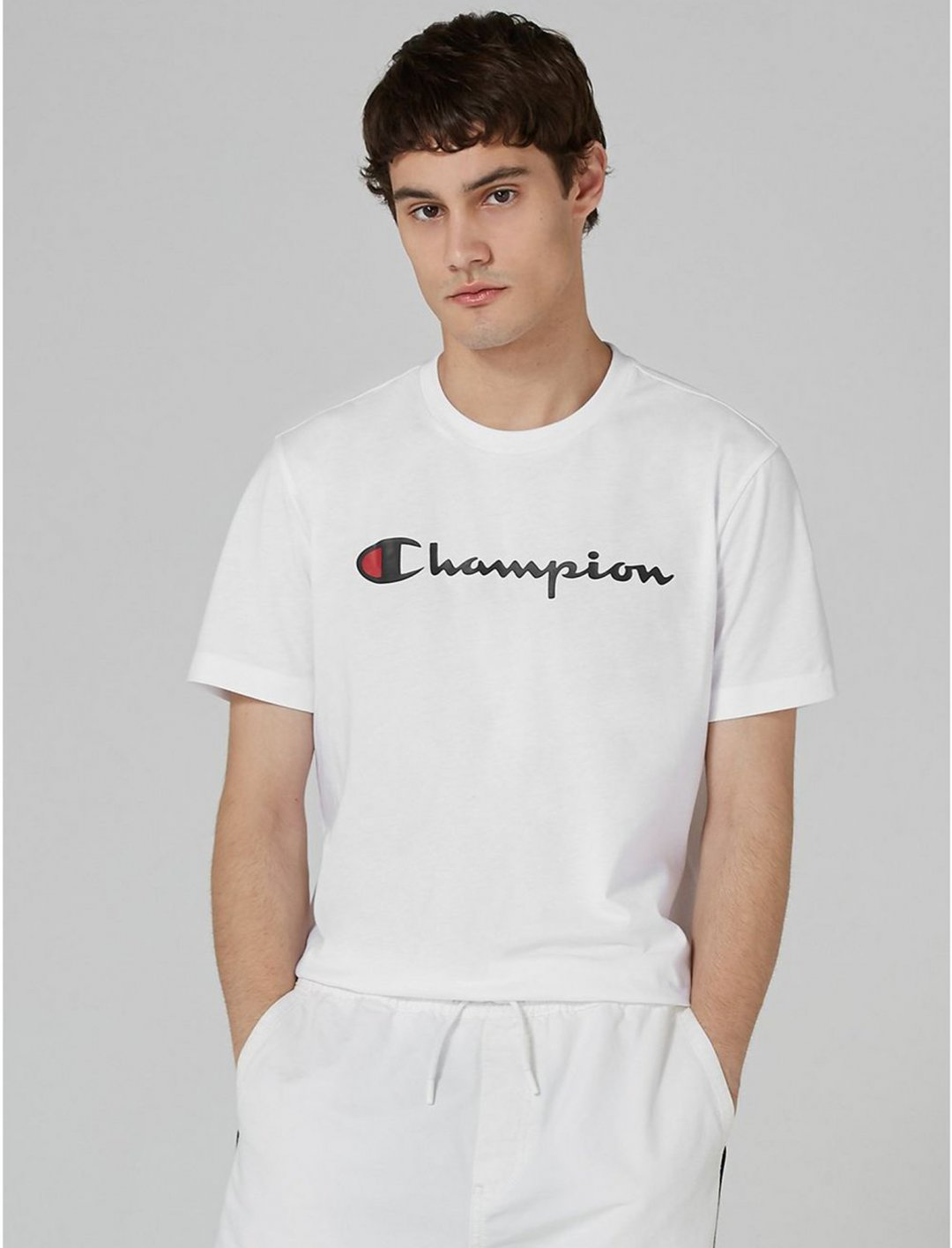 """Champion Logo T-Shirt {""""id"""":5,""""product_section_id"""":1,""""name"""":""""Clothing"""",""""order"""":5} Champion"""