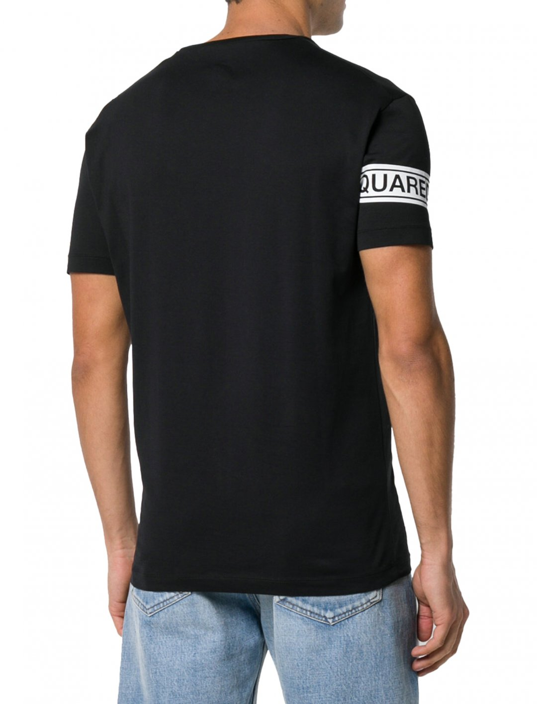 "Logo Strip T-Shirt {""id"":5,""product_section_id"":1,""name"":""Clothing"",""order"":5} Dsquared2"