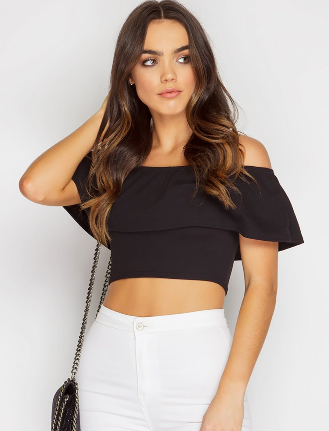 """Miss Pap Frill Crop Top {""""id"""":5,""""product_section_id"""":1,""""name"""":""""Clothing"""",""""order"""":5} Miss Pap"""