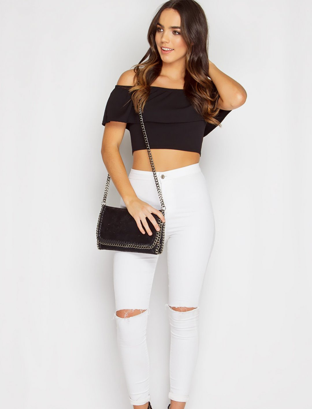 "Miss Pap Frill Crop Top {""id"":5,""product_section_id"":1,""name"":""Clothing"",""order"":5} Miss Pap"