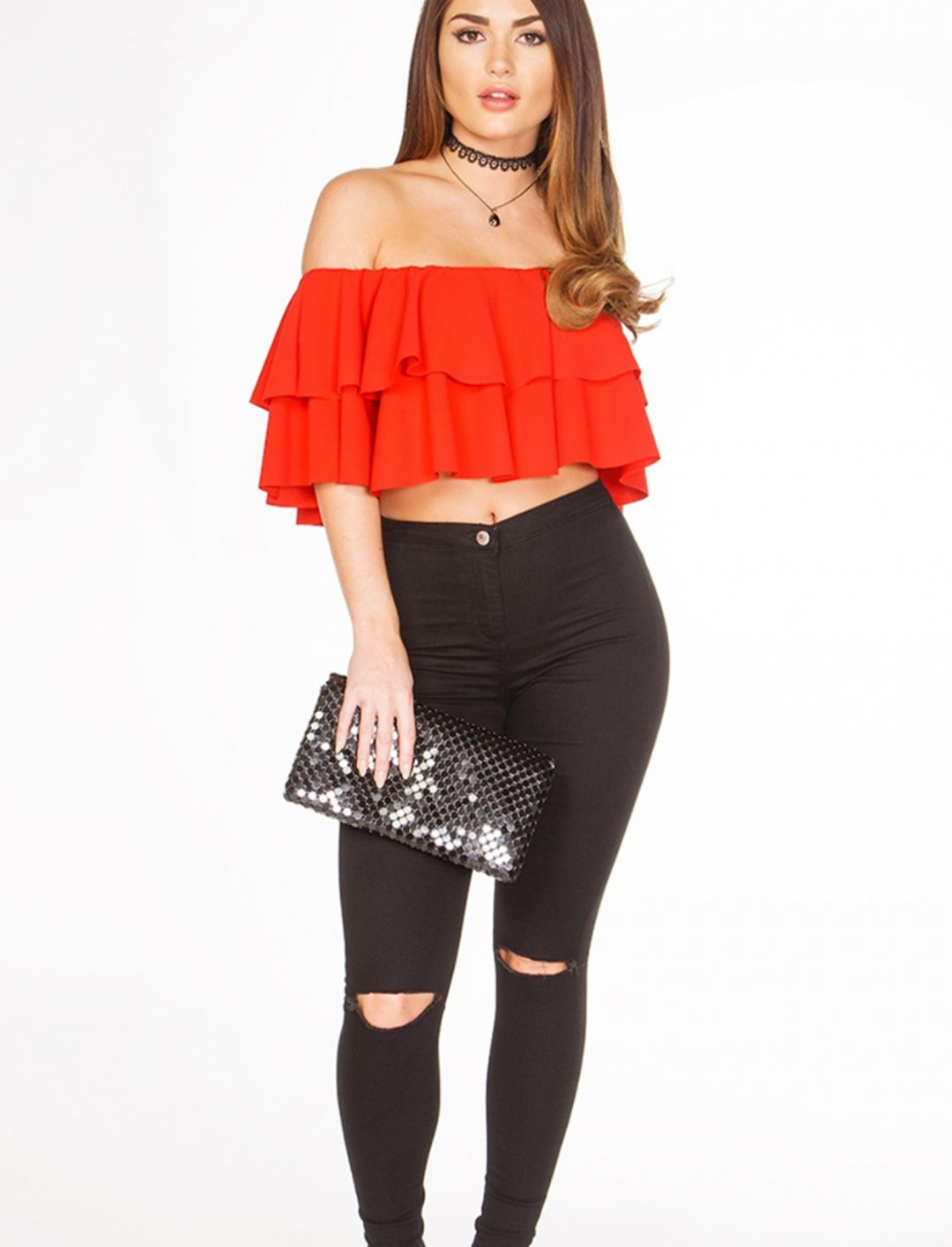 """Miss Pap Red Bardot Top {""""id"""":5,""""product_section_id"""":1,""""name"""":""""Clothing"""",""""order"""":5} Miss Pap"""