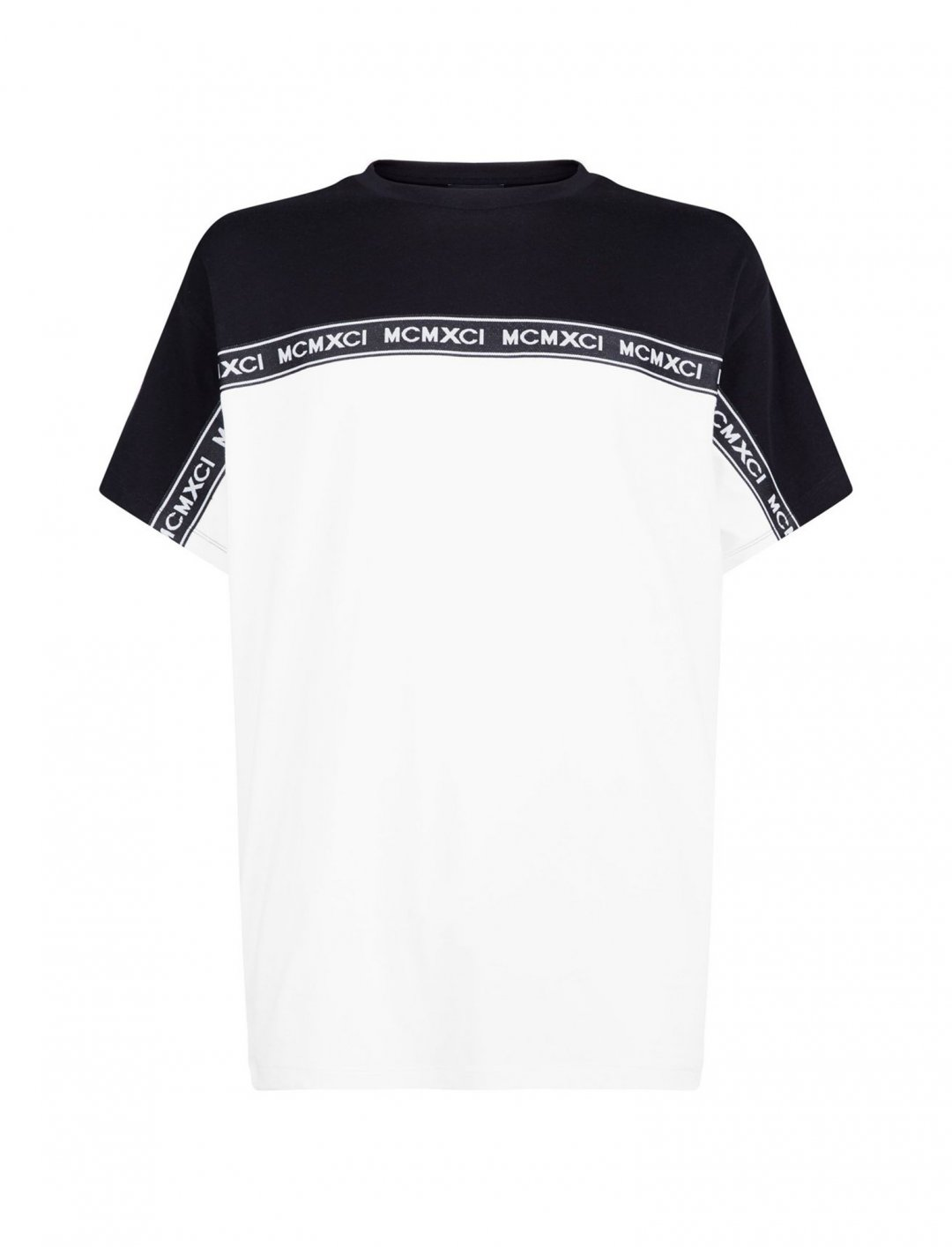 "New Look Slogan Tape Shirt {""id"":5,""product_section_id"":1,""name"":""Clothing"",""order"":5} New Look"