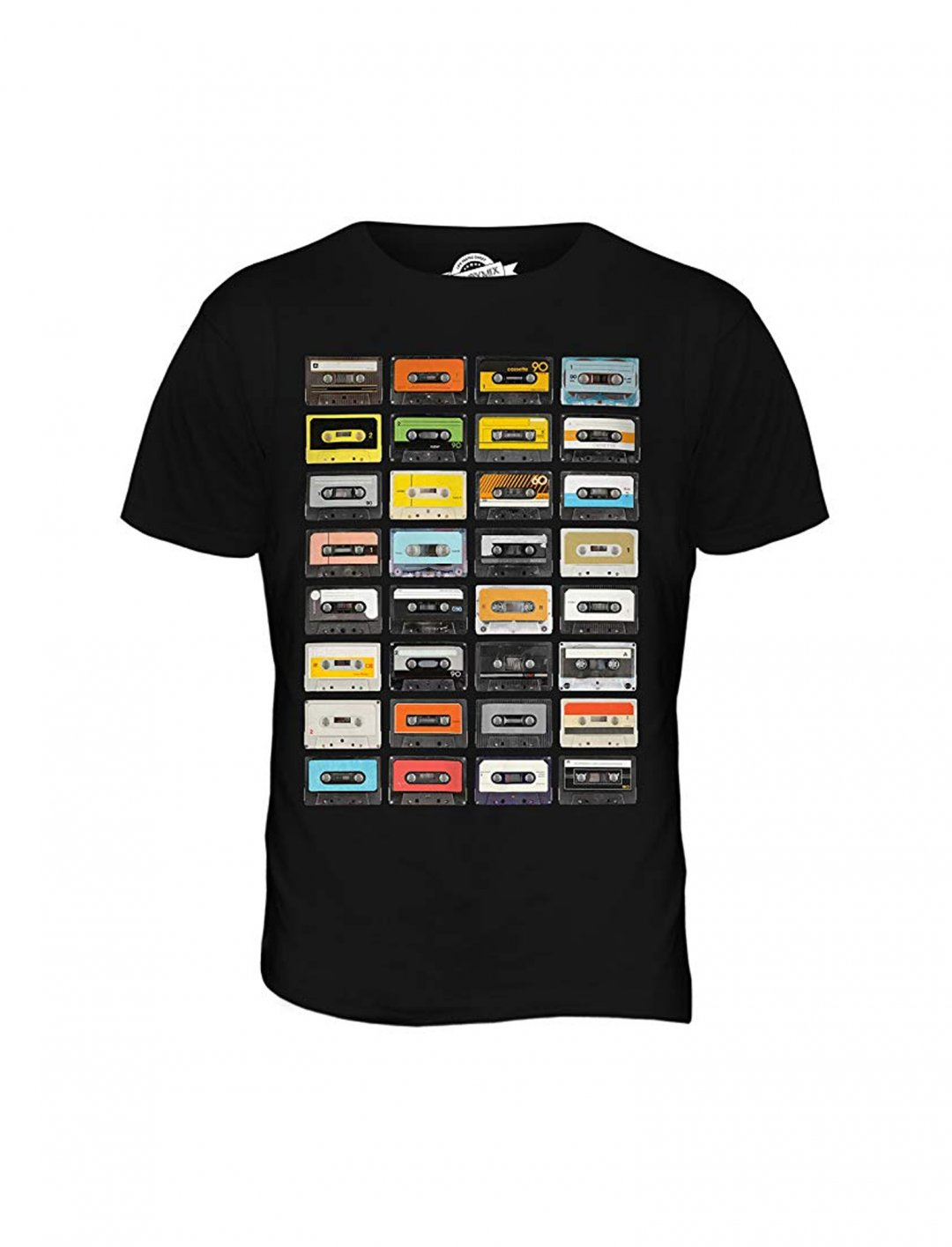"Brunswick's Cassette Tapes Print T-Shirt {""id"":5,""product_section_id"":1,""name"":""Clothing"",""order"":5} Candymix"