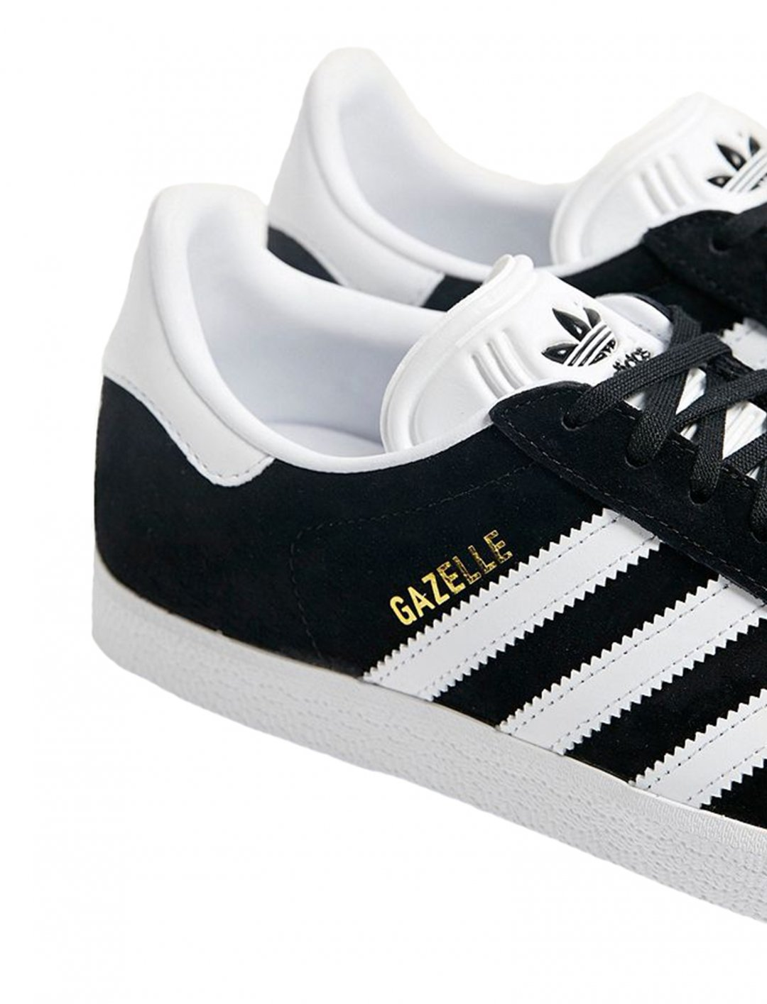 "Adidas Gazelle Black Trainers {""id"":12,""product_section_id"":1,""name"":""Shoes"",""order"":12} Adidas"