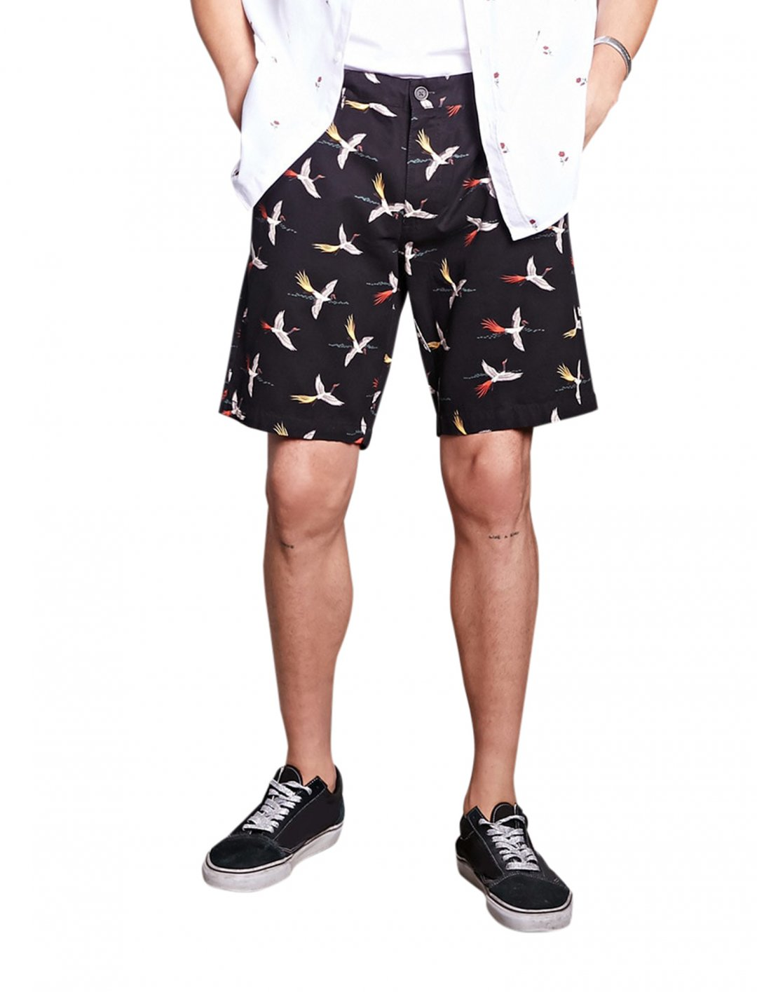 "Forever21 Bird Print Shorts {""id"":5,""product_section_id"":1,""name"":""Clothing"",""order"":5} Forever21"