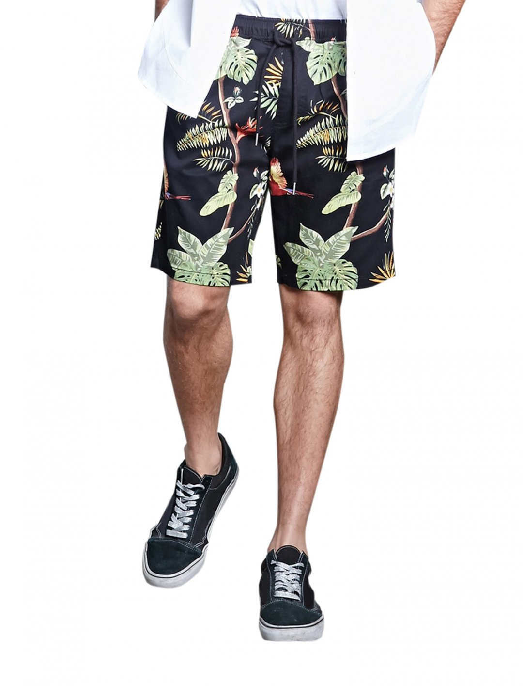 "Forever21 Tropical Drawstring Shorts {""id"":5,""product_section_id"":1,""name"":""Clothing"",""order"":5} Forever21"