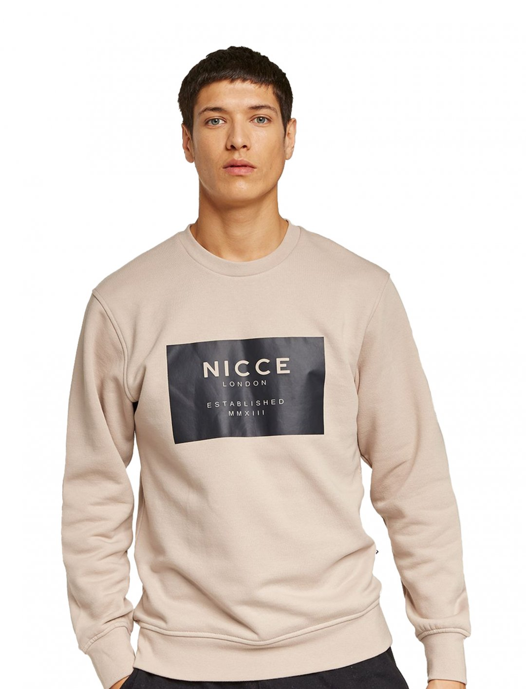 "Nicce Beige Sweatshirt {""id"":5,""product_section_id"":1,""name"":""Clothing"",""order"":5} Nicce"