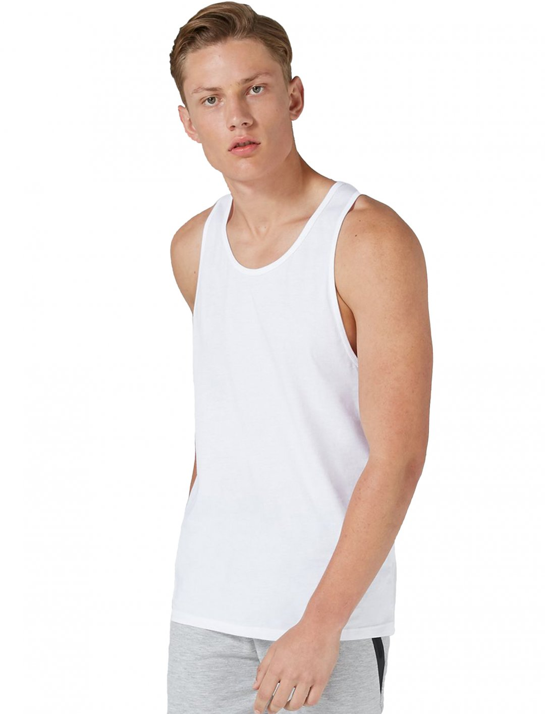 "Topman White Slim Vest Multipack {""id"":5,""product_section_id"":1,""name"":""Clothing"",""order"":5} Topman"