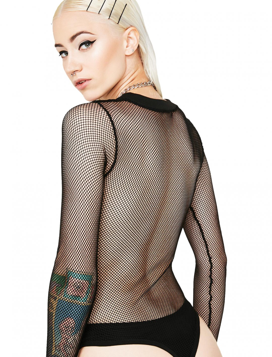 """Black Fishnet Bodysuit {""""id"""":5,""""product_section_id"""":1,""""name"""":""""Clothing"""",""""order"""":5} Current Mood"""
