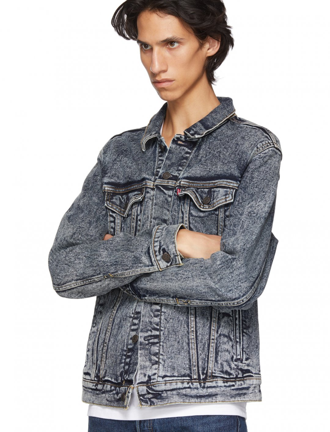 """Blue Bleach Trucker Denim Jacket {""""id"""":5,""""product_section_id"""":1,""""name"""":""""Clothing"""",""""order"""":5} Levi's"""